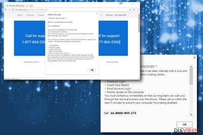 Abbildung der Betrugsmasche Windows Warning Alert