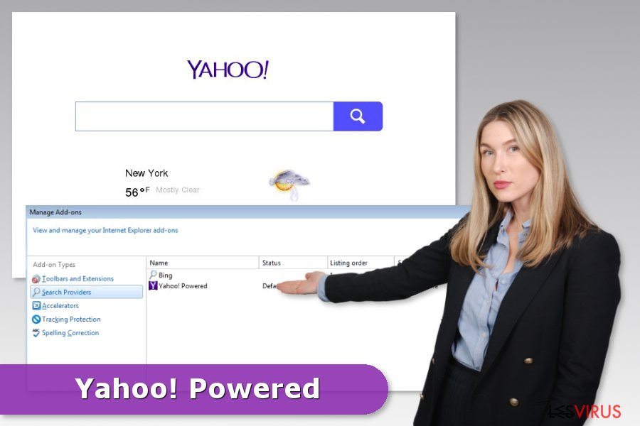 Beispiel Yahoo-Powered-Hijack
