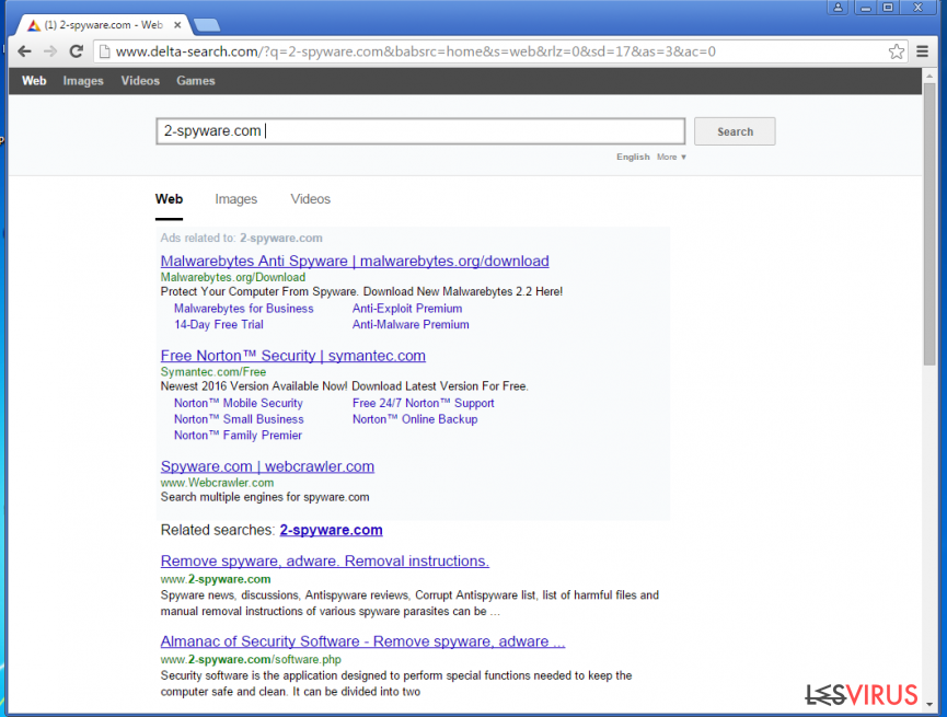Yahoo-Weiterleitungen-Screenshot