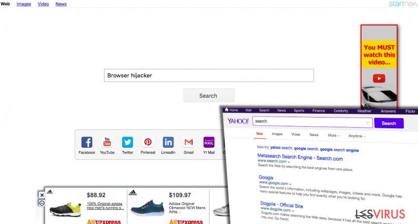 Yahoo Startnow Virus-Screenshot