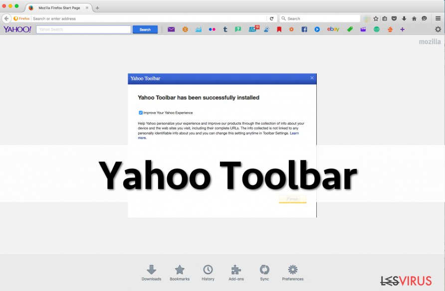 Screenshot Yahoo-Toolbar