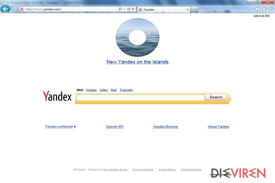 Yandex-Toolbar-Weiterleitung-Screenshot