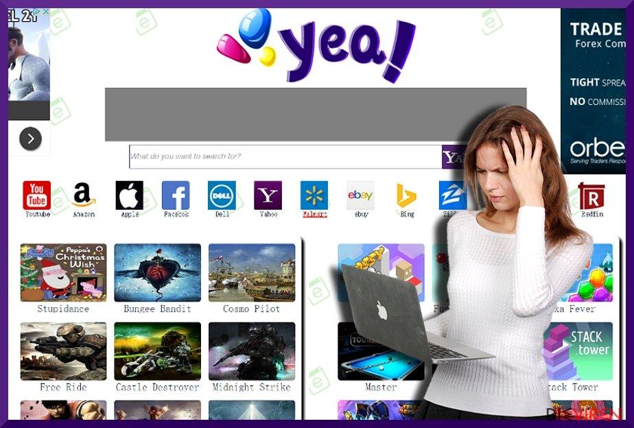 Abbildung des Hijackers YeaDesktop.com