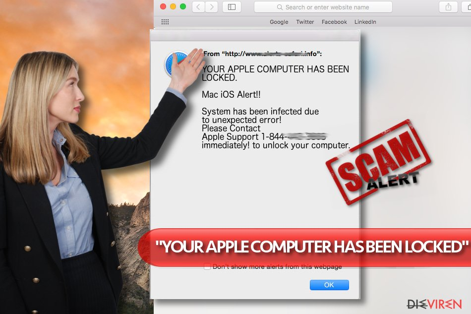"""YOUR APPLE COMPUTER HAS BEEN LOCKED""-Virus"