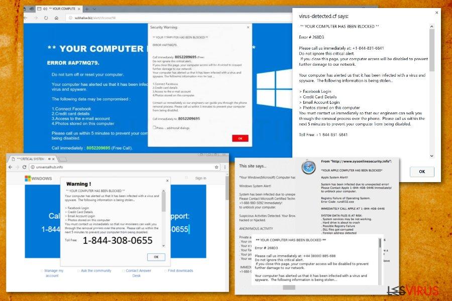 """""""Ihr Computer wurde gesperrt""""-Screenshot"""