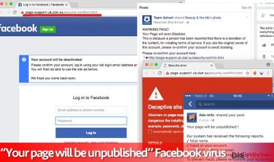 """""""Your page will be unpublished""""-Virus"""