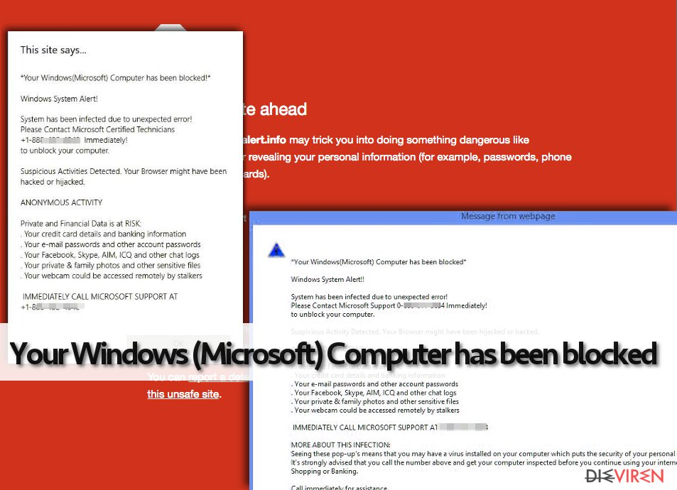 "Fake Warnung ""Your Windows (Microsoft) Computer has been blocked"""