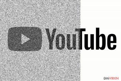 Abbildung einer korrupten YouTube-Seite