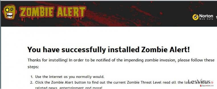 Zombie-Alert-Virus-Screenshot