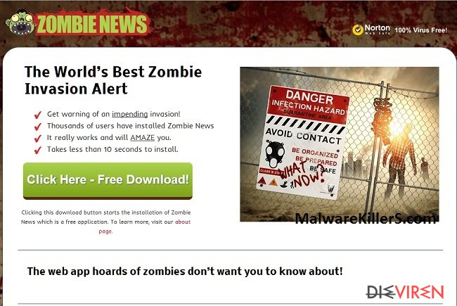 Zombie-News-Adware-Screenshot